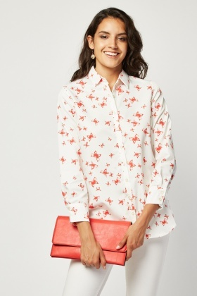 All Over Butterfly Print Shirt