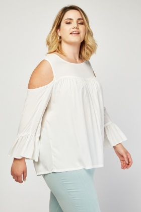 Bell Sleeve Off White Blouse