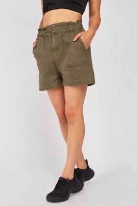 Gathered Waist Panel Shorts