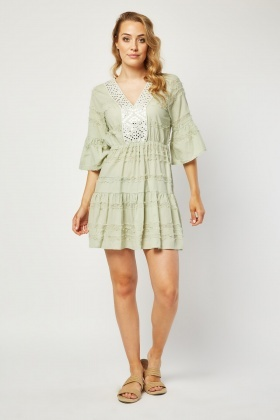 Mirror Effect Boho Tunic Dress