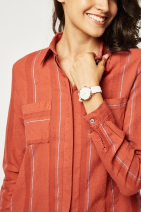 Textured Relaxed Stripe Shirt