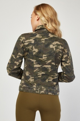 Fitted Camouflage Jacket