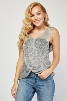 Twisted Loose Crochet Knit Top