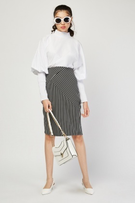Pin Stripe Ribbed Skirts