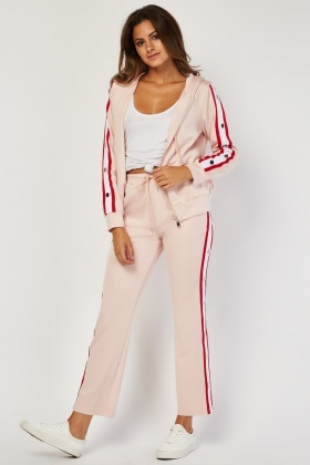 Track Pants With Stripe Poppers Side