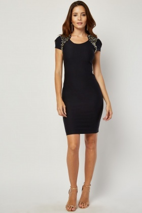 Embellished Cap Sleeve Bodycon Dress