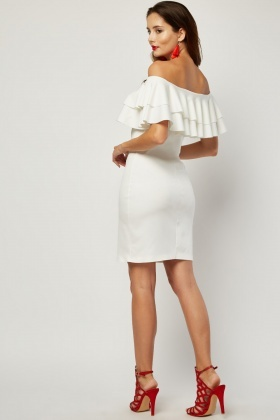 Layered Ruffle Panel Bodycon Dress