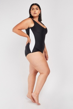 Monochrome Contrasted Swimsuit