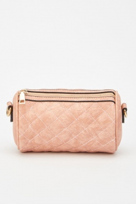 Quilted Mini Barrel Bag