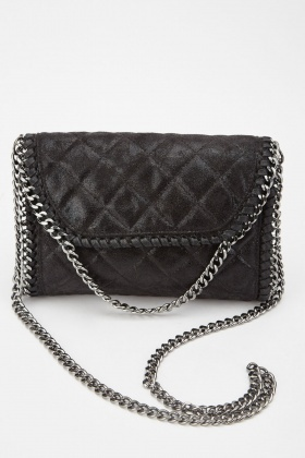 Textured Quilted Chain Bag