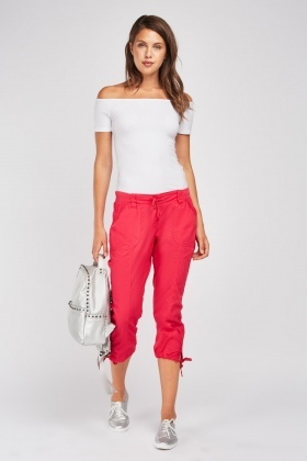 Tie Up Casual Crop Trousers
