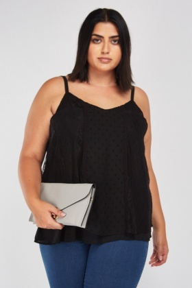 Lace Side Panel Cami Top