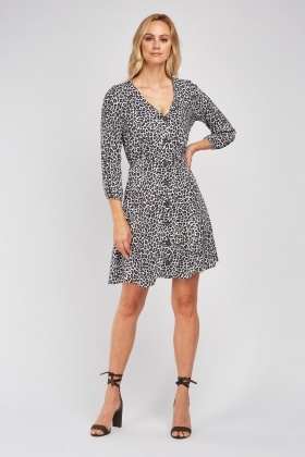 Leopard Print Skater Swing Dress