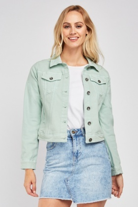 Twin Flap Pocket Front Denim Jacket