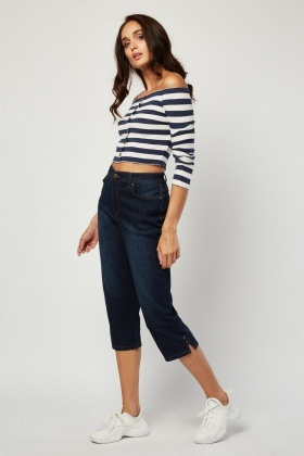 All Around Slimming Effect Crop Jeans