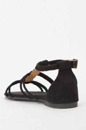 Braided Faux Suede Gladiator Sandals