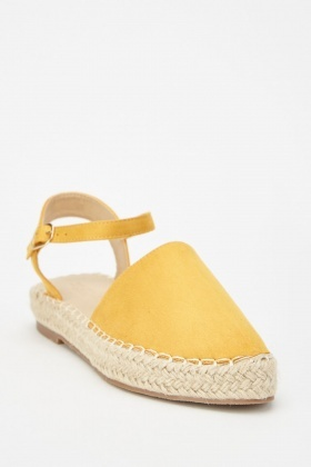 Faux Suede Pointy Espadrilles