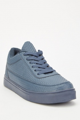 Men's Quilted Embossed Trainers