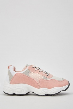 Patterned Suedette Trainers