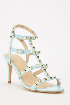 Studded Gladiator Heeled Sandals