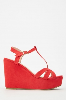 Suedette Criss Cross Sandals