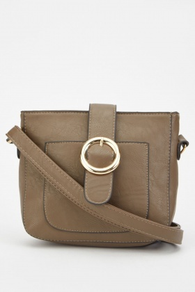 Textured Buckled Cross Body Bag