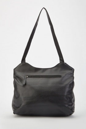 Textured Faux Leather Shoulder Bag