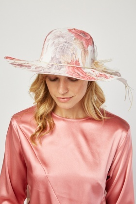 Flower Trim Floppy Hat