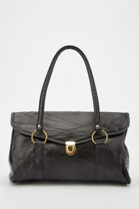 Black O-Ring Front Handbag