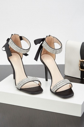Diamante Encrusted Heeled Sandals