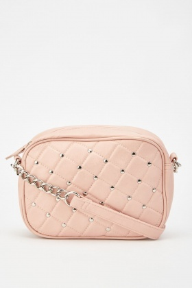 Quilted Studded Cross Body Bag