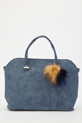 Textured Fluffy Detail Handbag