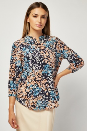 All Over Printed Chiffon Blouse