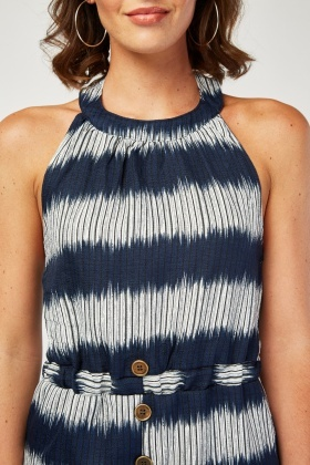 Printed Midi Halter Dress
