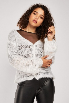 Shimmery Loose Knit Cardigan