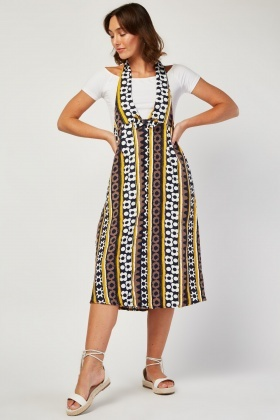 Mixed Print Halter Dress
