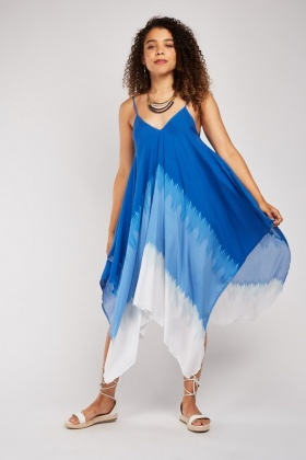 Flared Multi-Tonal Tent Dress