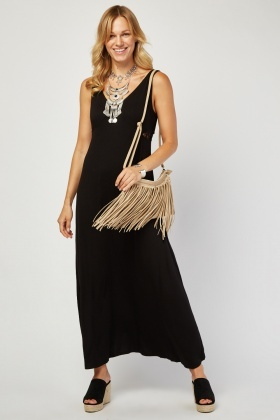 Lace Up Side Maxi Dress