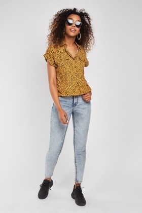 Mid Rise Light Blue Skinny Jeans