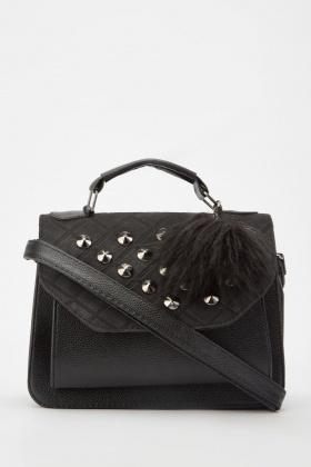Studded Front Flap Cross Body Bag £5.00
