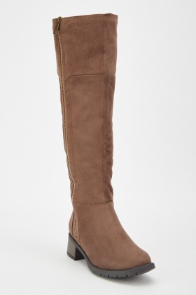 Suedette Stitched Trim Knee High Boots £5.00