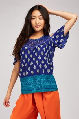 Crochet Ethnic Pattern Blouse