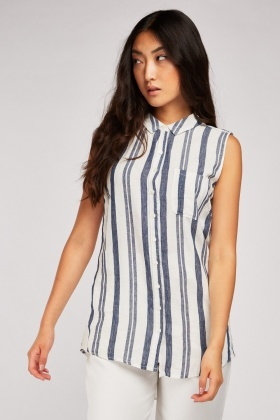 Single Pocket Front Stripe Top £5.00
