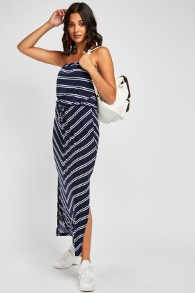 Slanted Stripe Maxi Dress