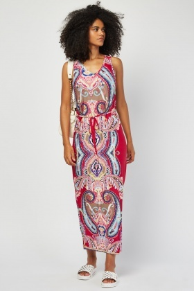 Multi Ethnic Print Maxi Dress £5.00