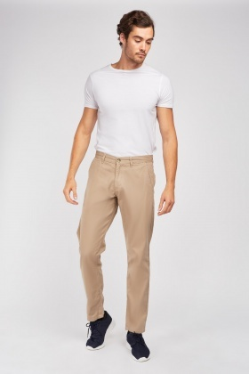 Straight Fit Classic Chino Trousers