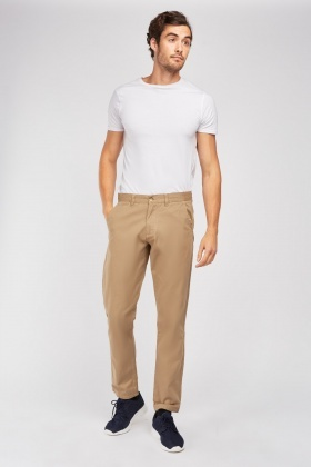 Straight Fit Classic Chino Trousers £5.00