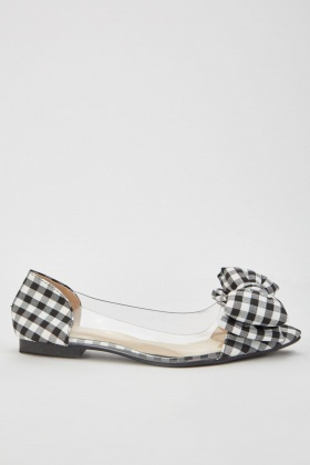 Gingham Bow Front Pumps
