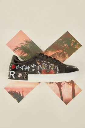 Graffiti Art Print Sneakers