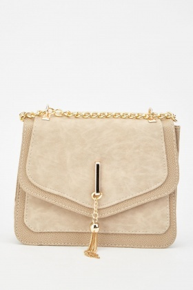 Tassel Chain Front Textured Flap Bag £5.00